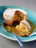 Brioche filled with apricots and apricot puree