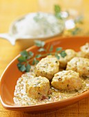 Monkfish and coconut milk curry
