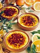 Crema Catalana with citrus fruits