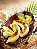 Flambéed bananas with Grand Marnier and oranges
