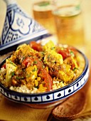 Chicken and artichoke tagine with couscous