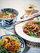 An oriental meal