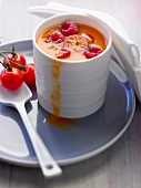 Andalusian gaspacho with raspberries