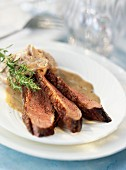 Duck magret with chestnuts