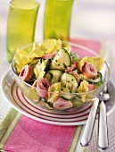 Boiled ham and courgette salad
