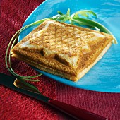 Croque-monsieur (toasted ham and cheese sandwich)