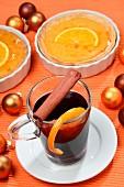 Orange tartlet and orange tea