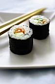 Two maki sushi