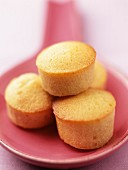 Round financiers (French almond cakes)