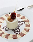 White chocolate and banana mousse