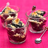 Prune crumble with Armagnac
