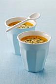 Cream of pumpkin soup with soya milk