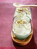 White chocolate mousse with lime