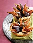 Fig and honey tarts