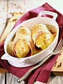 Gratinated chicory with ham