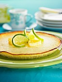 Lemon and lime tart
