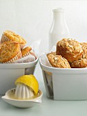 Lemon muffins and oat muffins