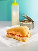 Thunfisch-Karotten-Sandwich