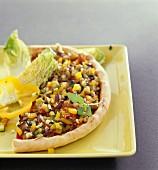 Sommerliche Gemüsepizza