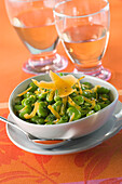 Bean salad with mimolette