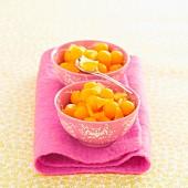 Melonenbällchen-Salat mit kandiertem Ingwer