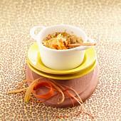 Rhubarb soufflé