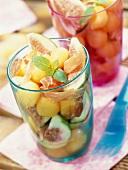 Melon,fig and Parma ham Salad