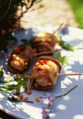 Chicken rolls with aubergines