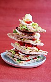 Club sandwich with chicken