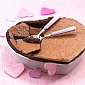 Schokoladenherzkuchen ohne Mehl