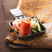 Seafood raclette