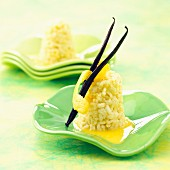 Rice cakes with vanilla and lemon