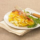 Gratin dauphinois (traditional potato gratin, France)