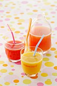Glasses of healthy vitamin juices
