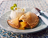 A mango and faisselle cream cheese pasty