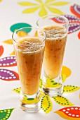Sparkling lychee cocktails