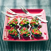 Stuffed mussels with peppers