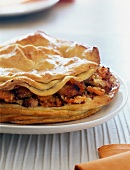 chicken,almond and honey pie