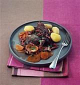 Beef chop à la bordelaise