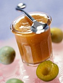 Greengage plum and coconut jam