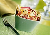 Potato,ham and onion salad