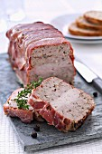 Three meat terrine