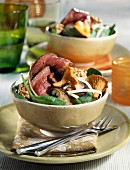 Duck Magret autumn salad