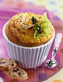 Carribean crab and curry soufflé