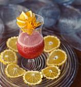 Summer fruit cocktail with citrus fruit