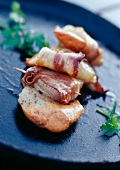 Scallops with Bayeux bacon
