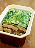 Chicken liver and cabbage terrine