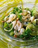 Monkfish salad