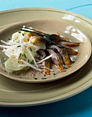 Herring,apple and turnip salad