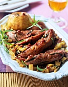 Slivers of duck breast with tarragon